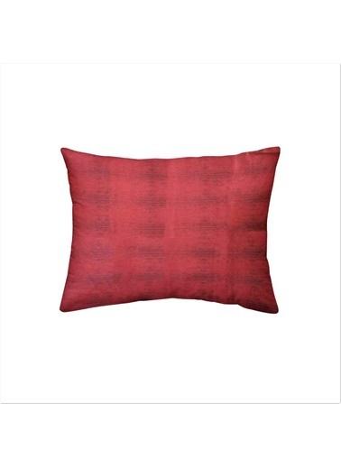 Maki %100 Pamuklu 2 Adet 50x70 Yastık Kılıfı Kırmızı Siyah Kırmızı